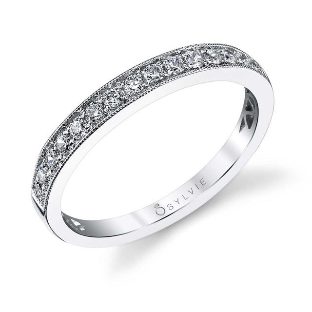 Classic Wedding Band With Milgrain Accents BS1098 - Chalmers Jewelers