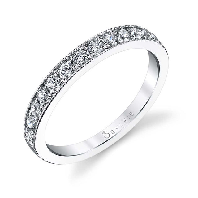 Classic Wedding Band With Milgrain Accents BS1119 - Chalmers Jewelers
