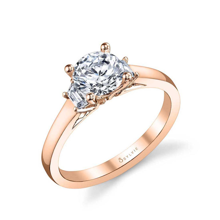 Modern Three Stone Engagement Ring S1095 - Chalmers Jewelers