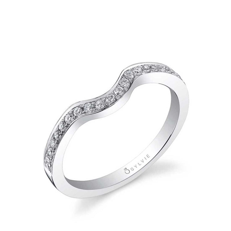 Modern Curved Wedding Band BSY911 - Chalmers Jewelers