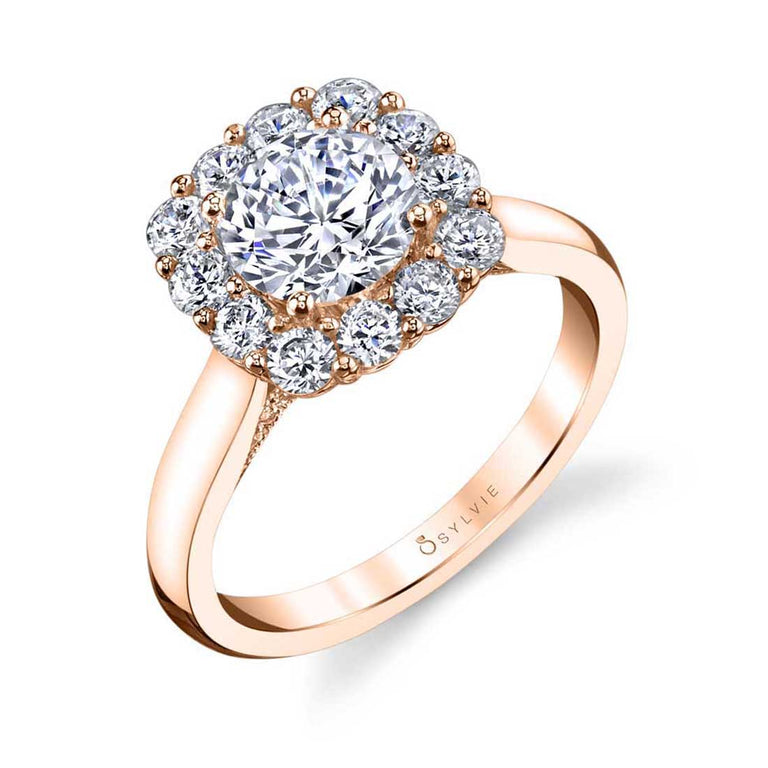 Modern Halo Engagement Ring S1532 - Chalmers Jewelers