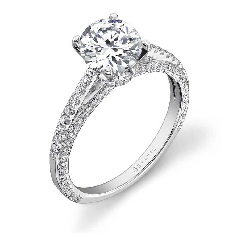 Classic Princess Cut Engagement Ring S1225 - Chalmers Jewelers