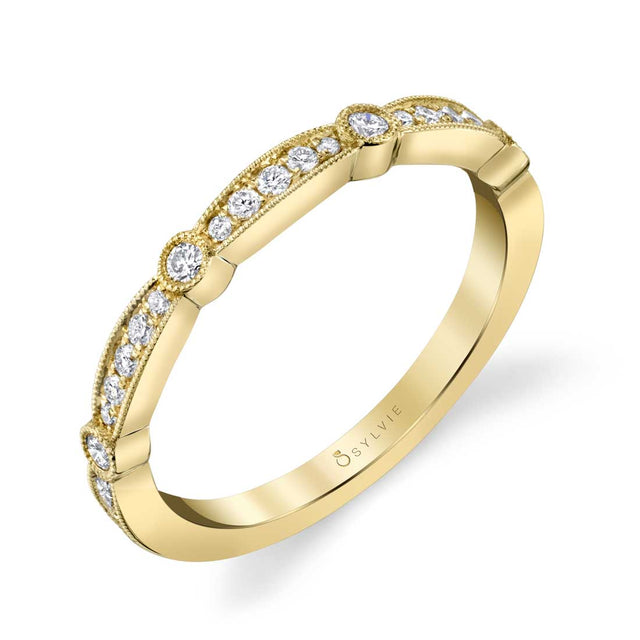 Sylvie Modern Stackable Band - B0041 - Chalmers Jewelers