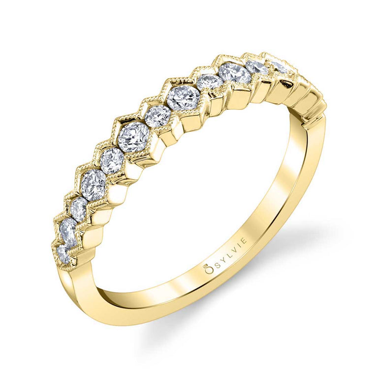 Modern Wedding Band B0058-WG - Chalmers Jewelers