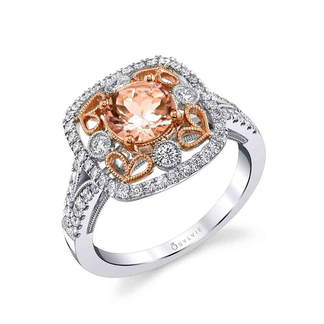 Special Edition Vintage Engagement Ring With Morganite Center S1707-MG - Chalmers Jewelers