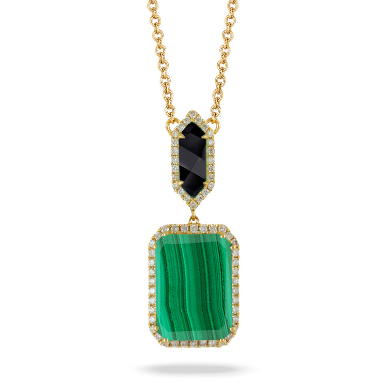 Malachite and Black Onyx Necklace - Chalmers Jewelers