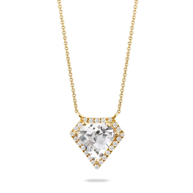 White Topaz and Diamond Necklace - Chalmers Jewelers