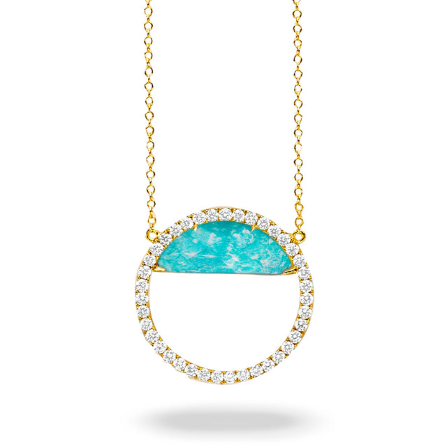 Amazonite and Diamond Necklace - Chalmers Jewelers