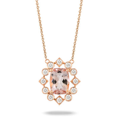 Morganite 18k Necklace