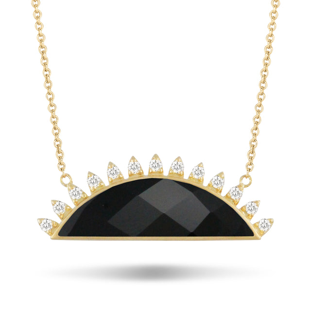 Black Onyx and Diamond Necklace - Chalmers Jewelers