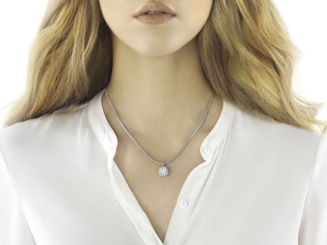 Classic Chain Pendant Necklace with Diamonds - Chalmers Jewelers