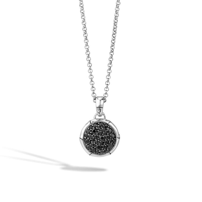 Pendant Necklace with Black Sapphire - Chalmers Jewelers