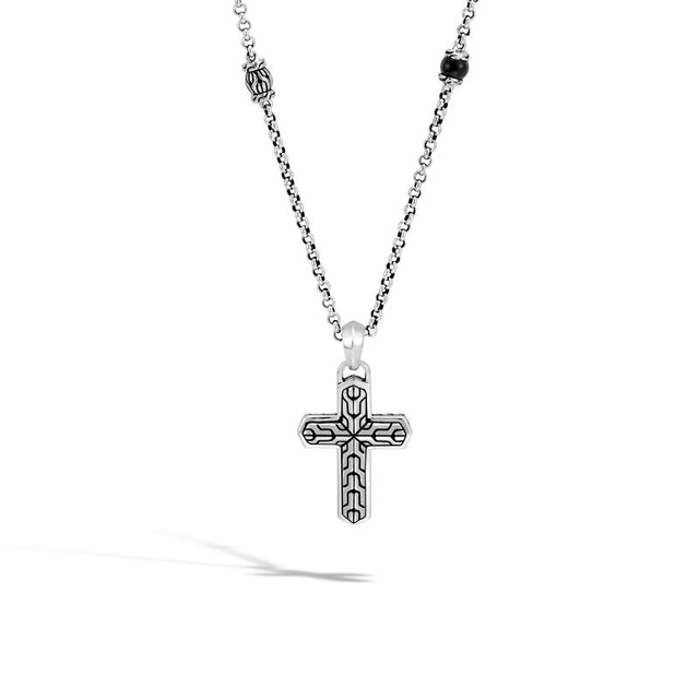 Classic Chain Cross Pendant Necklace - Chalmers Jewelers