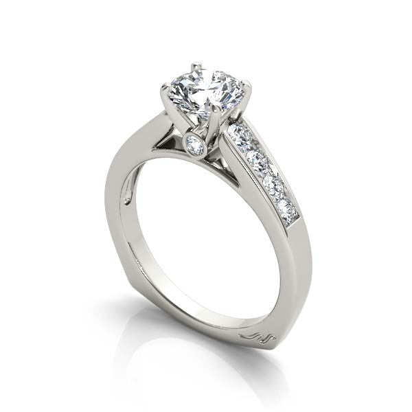 Open Solitaire Engagement Ring