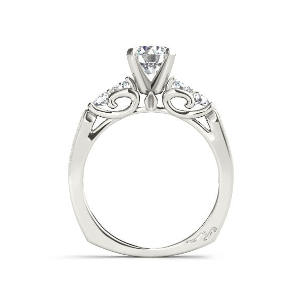 Carved Solitaire Engagement Ring - Chalmers Jewelers