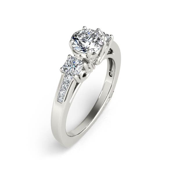 Three Stone Engagement Ring - Chalmers Jewelers