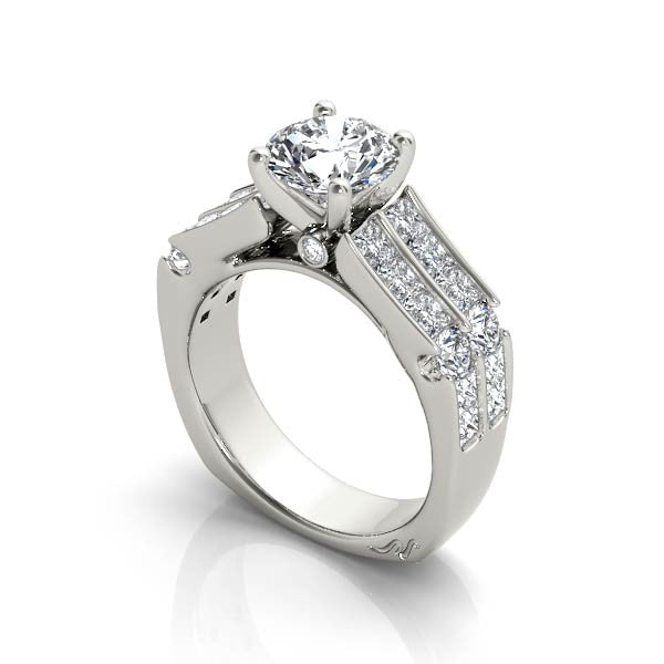 Double Channel Engagement Ring