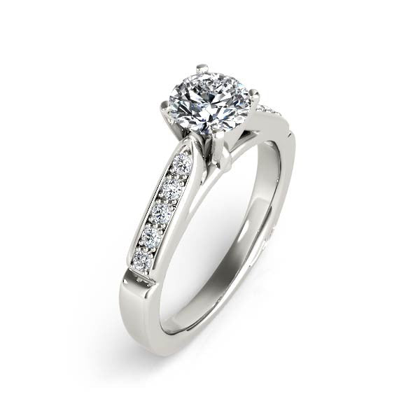 Pinched Solitaire Engagement Ring