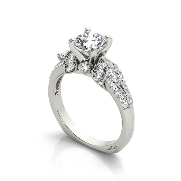Imperial Milgrain Engagement Ring