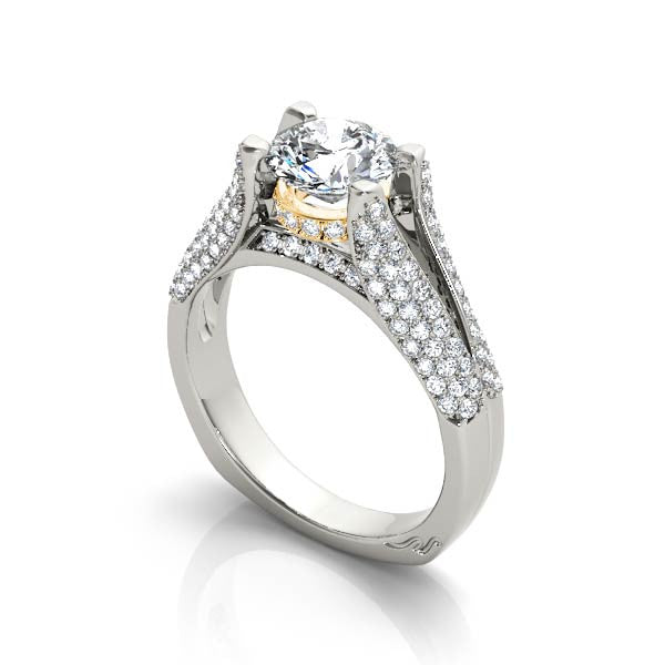 Pave Wrapped Engagement Ring