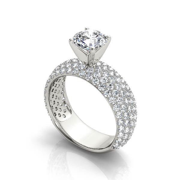 Pave Set Engagement Ring - Chalmers Jewelers