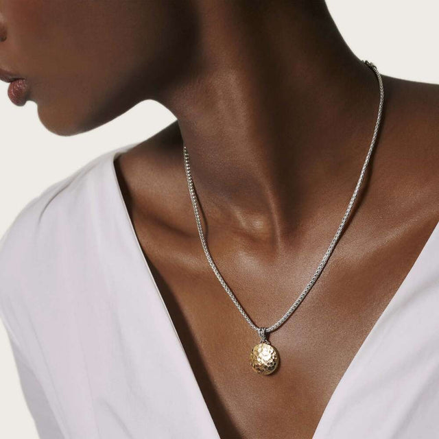 Hammered Reversible Pendant Necklace - Chalmers Jewelers