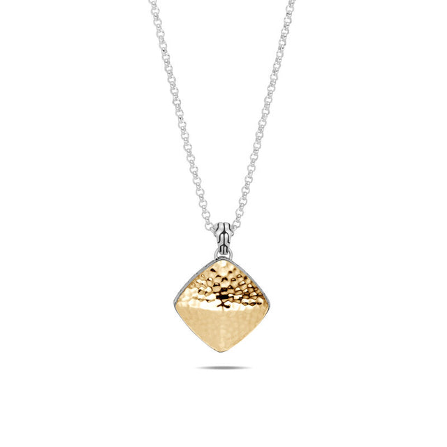 Classic Chain Hammered Sugarloaf Pendant Necklace - Chalmers Jewelers
