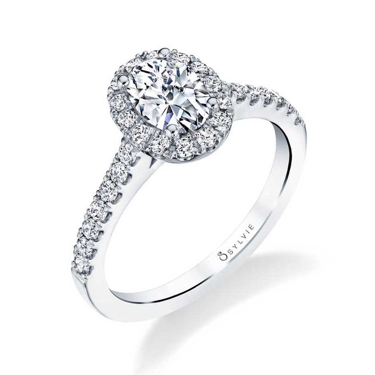 Classic Oval Engagement Ring With Halo S1475-OV - Chalmers Jewelers