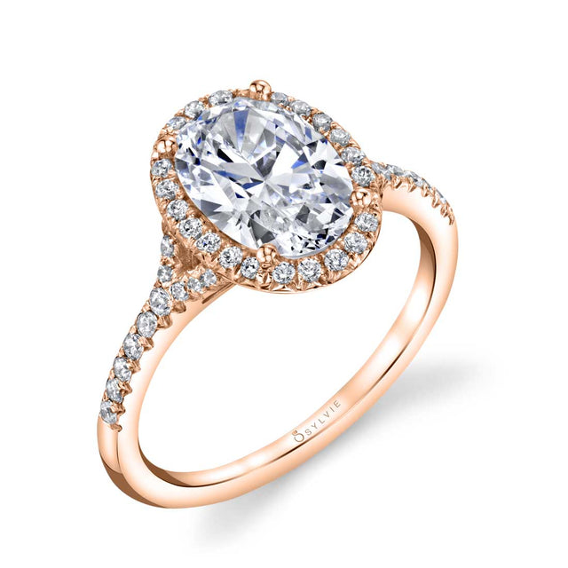 Oval Engagement Ring With Halo S1814 - Chalmers Jewelers