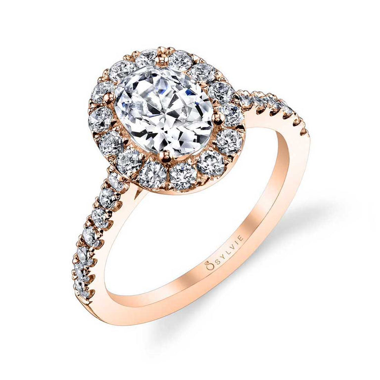 Oval Engagement Ring With Halo S1199-OV - Chalmers Jewelers