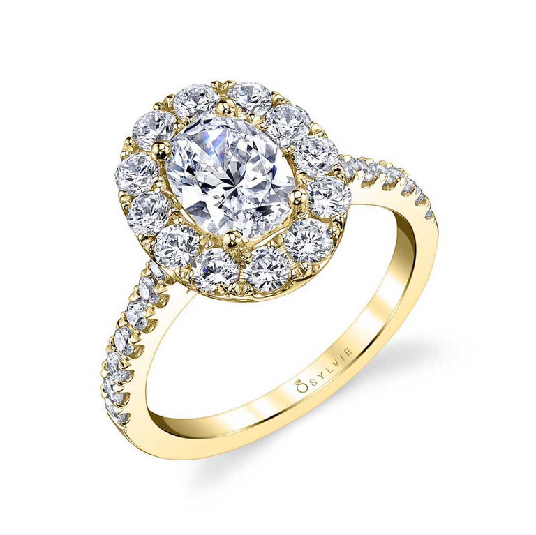 Oval Halo Engagement Ring S1299-OV - Chalmers Jewelers