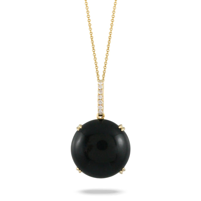 Black Onyx and Diamond Pendant - Chalmers Jewelers
