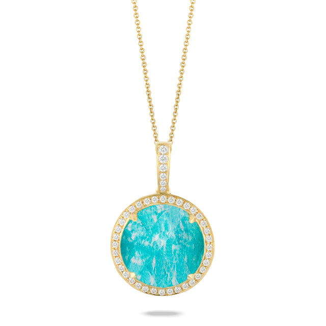 Amazonite and Diamond Pendant - Chalmers Jewelers