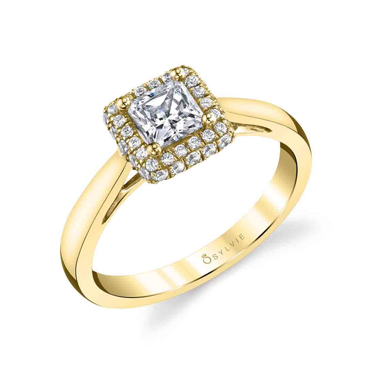 Princess Cut Engagement Ring With Halo SY718-PR - Chalmers Jewelers