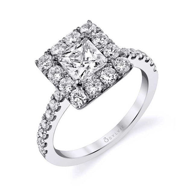 Princess Cut Halo Engagement Ring S1299-PR - Chalmers Jewelers