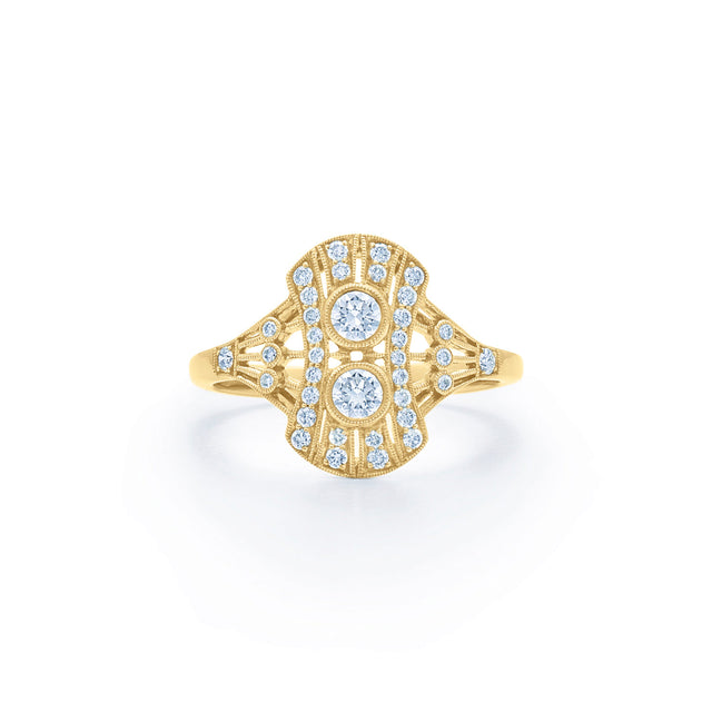 Splendor Diamond Petite Filigree Ring