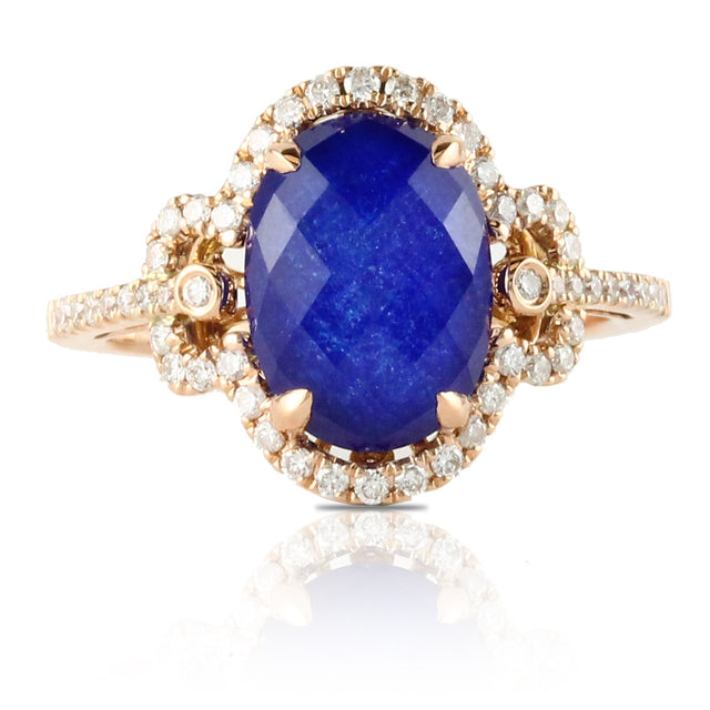 Royal Lapis Vintage-Inspired Ring - Chalmers Jewelers