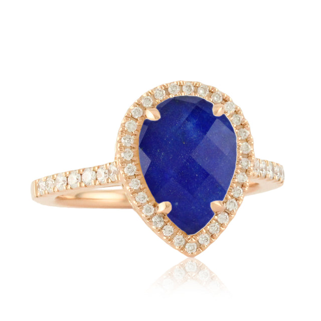 Royal Lapis Clear Quartz Ring - Chalmers Jewelers