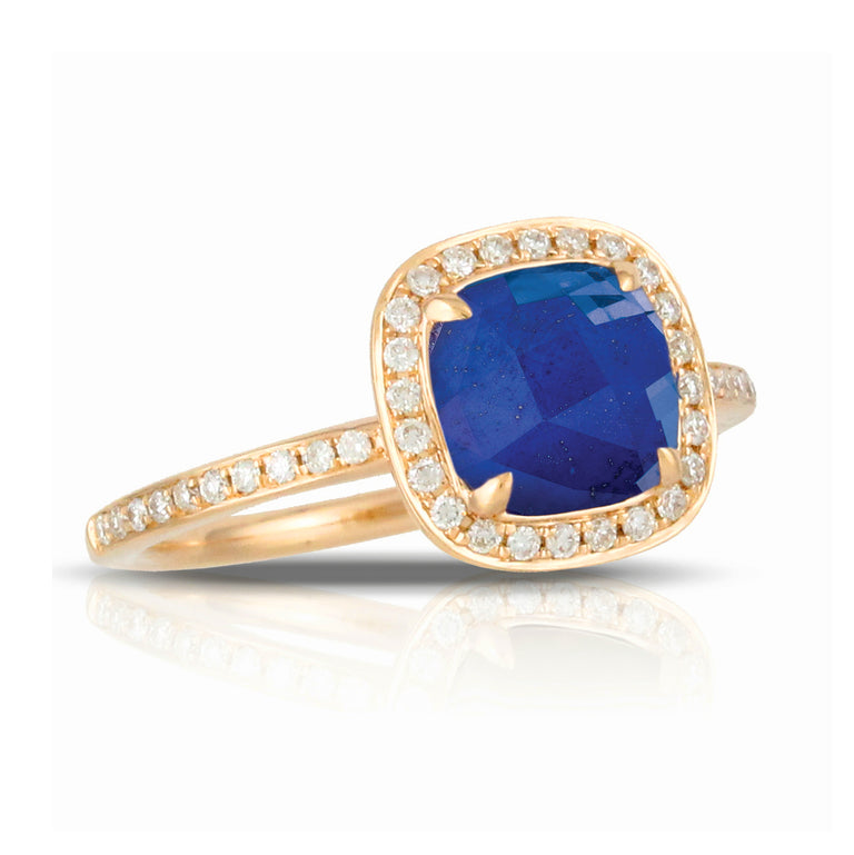 Royal Lapis Rose Gold Ring - Chalmers Jewelers