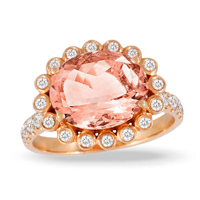 Morganite 18k Ring
