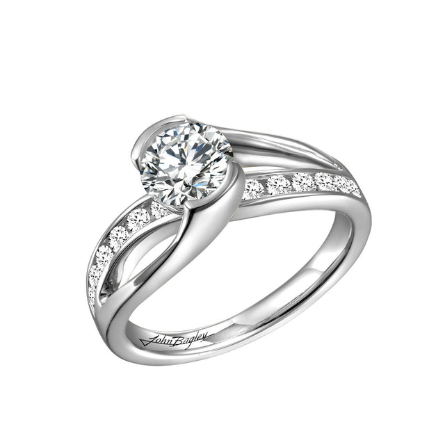 Curl Set Engagement Ring - Chalmers Jewelers
