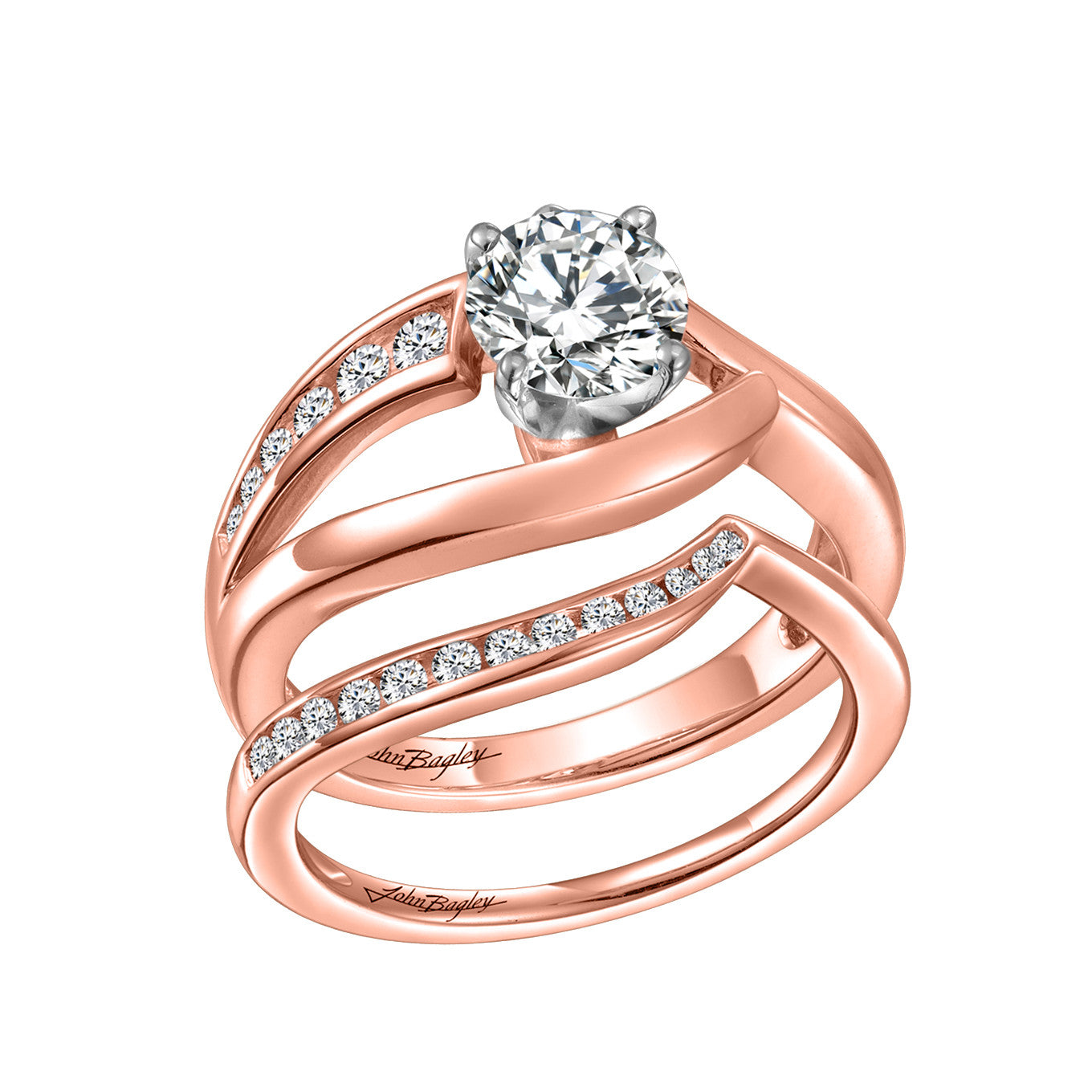 Freeform Solitaire Engagement Set