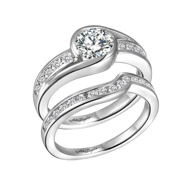 Diamond Bypass Engagement Set. - Chalmers Jewelers