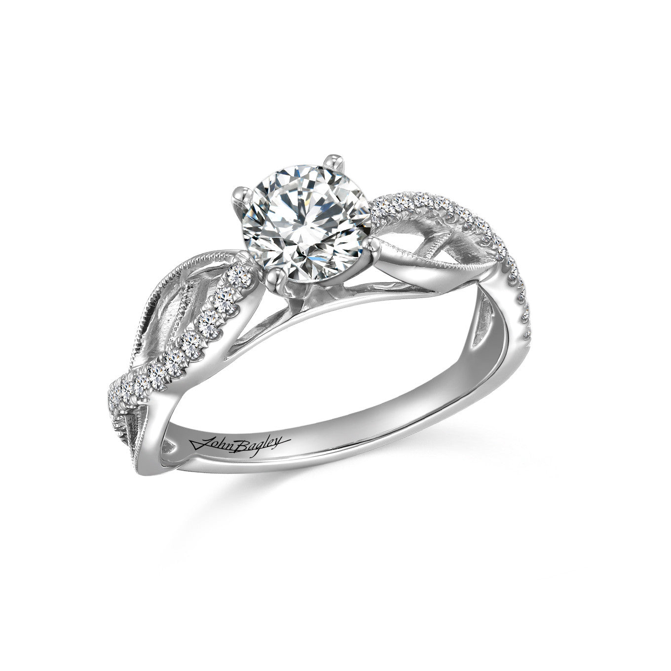 Multi-Row Diamond Engagement Ring
