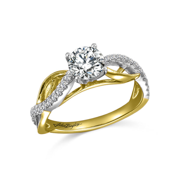 Diamond Milgrain Engagement Ring - Chalmers Jewelers