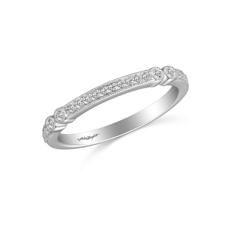 John Bagley Classic Wedding Band With Milgrain Details #338821 - Chalmers Jewelers