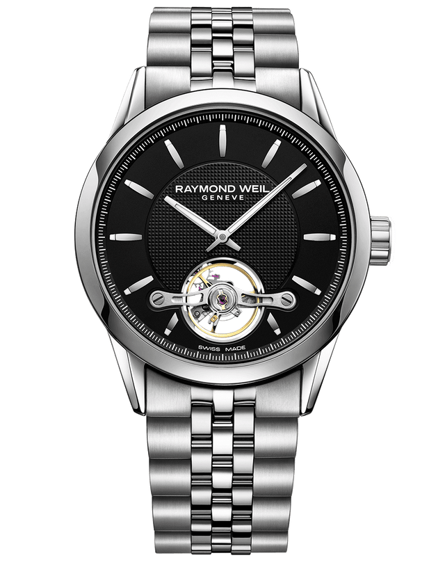 Freelancer Calibre RW1212 Black Dial Automatic Watch 2780-ST-20001 - Chalmers Jewelers
