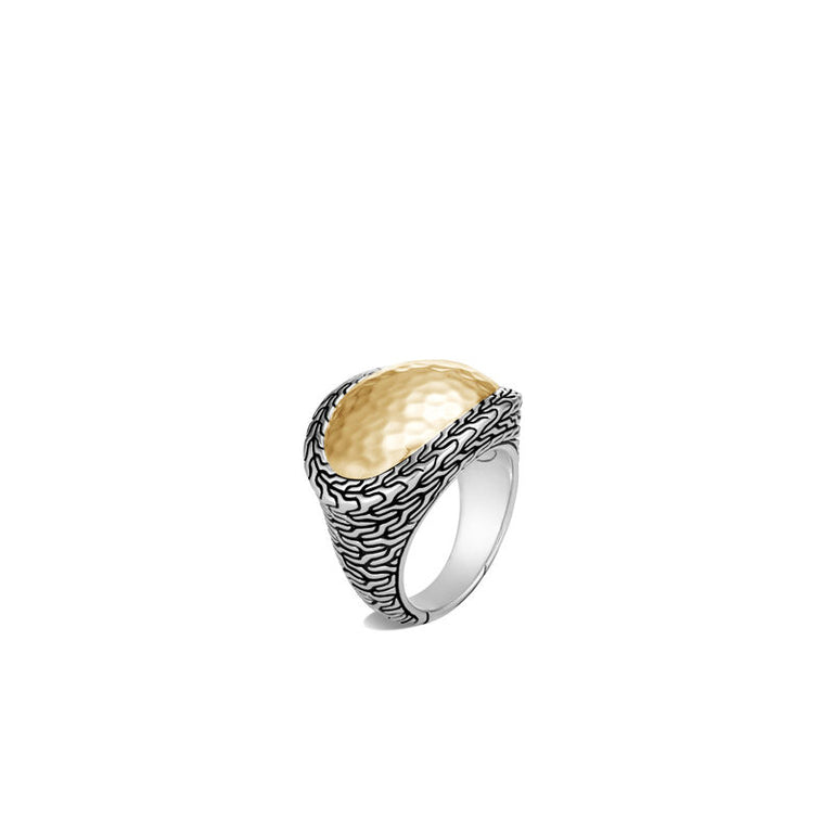 Classic Chain Hammered Ring - Chalmers Jewelers