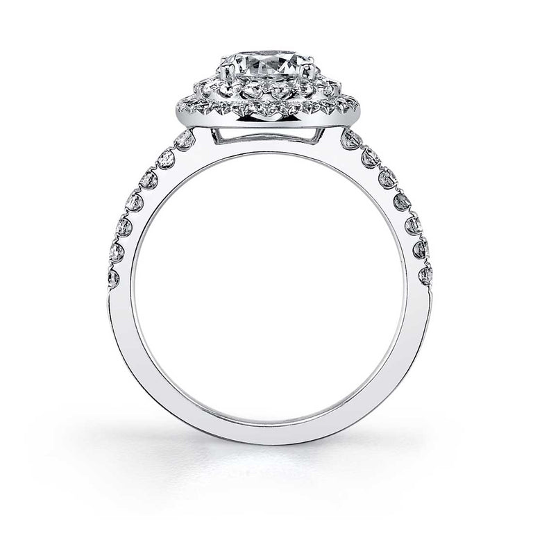 Petite Double Halo Engagement Ring S1086 - Chalmers Jewelers