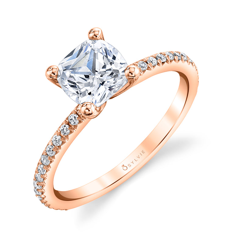 Cushion Cut Engagement Ring S1093 - CU - Chalmers Jewelers